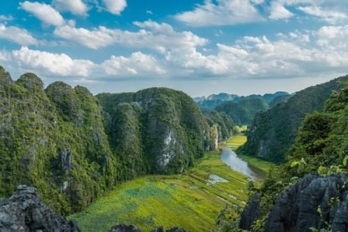 Paysage vietnamienne