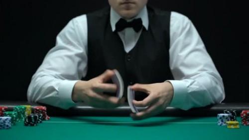 Casino-croupier shuffle
