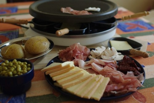 illustration raclette